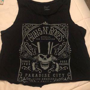 Guns N' Roses crop top XL